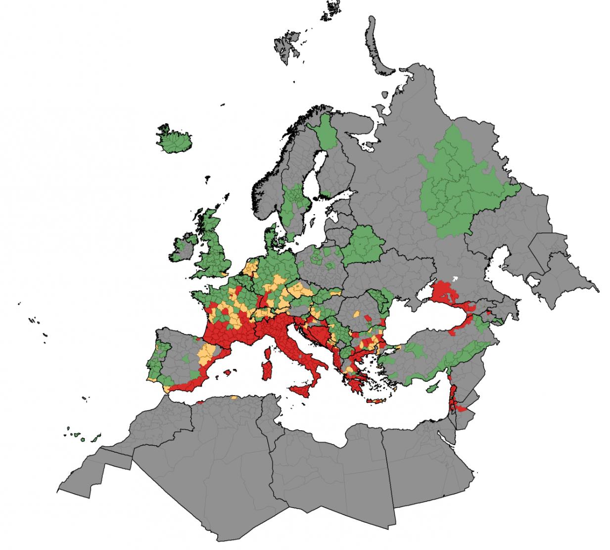 Presenza in Europa della zanzara tigre